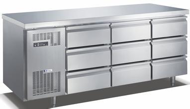六抽屉低平台冷冻柜